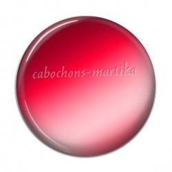 Cabochon Résine - uni rouge