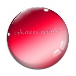 Cabochon Verre - uni rouge