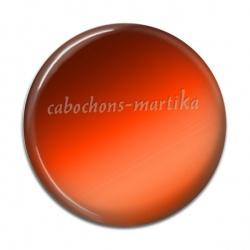 Cabochon Résine - uni orange