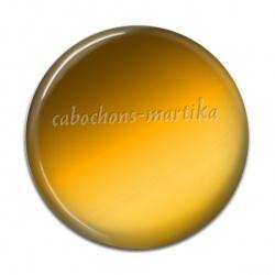 Cabochon Résine - uni jaune