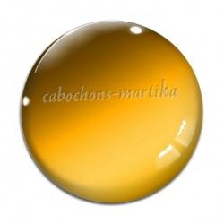 Cabochon Verre - uni jaune