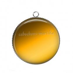 Pendentif Cabochon Argent - uni jaune