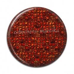 Cabochon Résine - uni rouge carreau