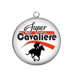 Pendentif Cabochon Argent - super cavalière