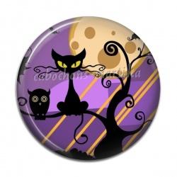 Cabochon Résine - chat Halloween