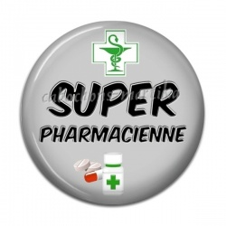 Cabochon Résine - super pharmacienne