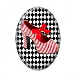Cabochon Résine Ovale - chaussure