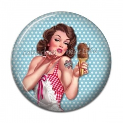 Cabochon Résine - pin up