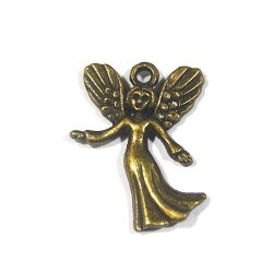 breloque ange métal bronze