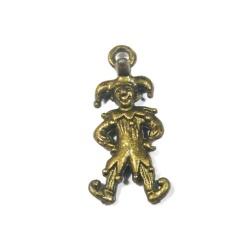 breloque joker métal bronze