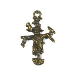 breloque Épouvantail métal bronze
