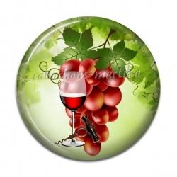 Cabochon Résine - raisin verre et tire bouchon