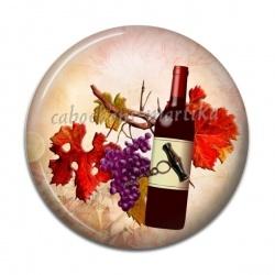 Cabochon Résine - raisin tire bouchon et bouteille