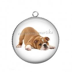 Pendentif Cabochon Argent - chien