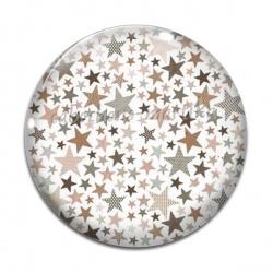 Cabochon Verre - étoiles