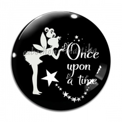 Cabochon Verre - Once upon a time