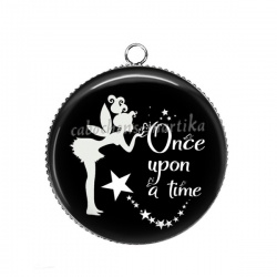 Pendentif Cabochon Argent - Once upon a time