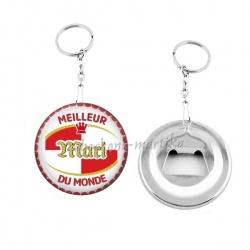 Porte clés décapsuleur - meilleur mari au monde