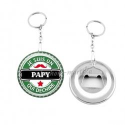 Porte clés décapsuleur - je suis un papy qui déchire