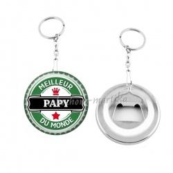 Porte clés décapsuleur - meilleur papy au monde