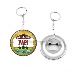Porte clés décapsuleur - meilleur papi au monde