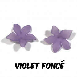 10 perles fleurs  27 mm