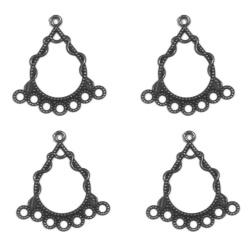 4 connecteurs filigranent anthracite