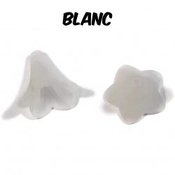 10 perles fleurs blanches