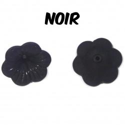 10 perles fleurs noires