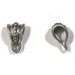 1 perle support breloque ou pendentif métal argenté