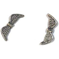 1 Perle aile métal argenté