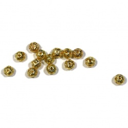50 perles métal filagramme doré