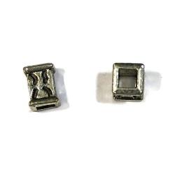 1 perle métal argent