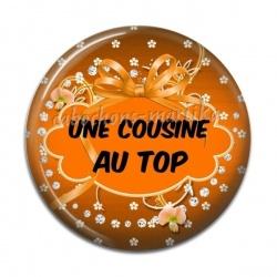 Cabochon Résine - Une cousine au top
