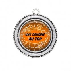 Pendentif Cabochon Argent - Une cousine au top
