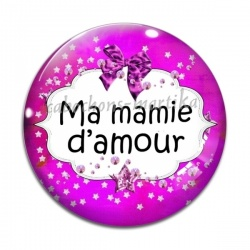 Cabochon Verre -  Ma mamie d'amour