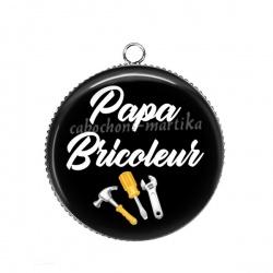 Pendentif Cabochon Argent - papa bricoleur