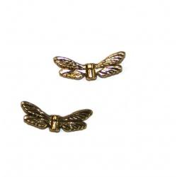 Perle aile métal dorer