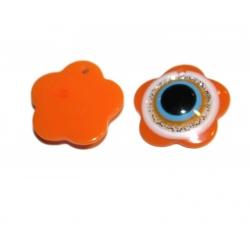 breloque oeil orange