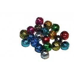 10 perles fleurs Synthétique