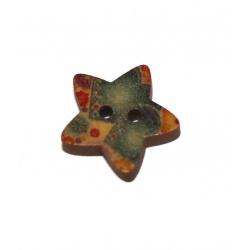 1 bouton bois étoile