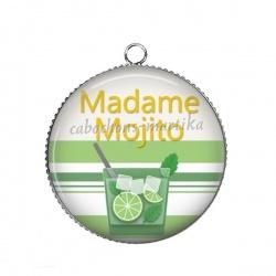 Pendentif Cabochon Argent - madame mojito