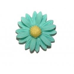 1 cabochon résine fleur