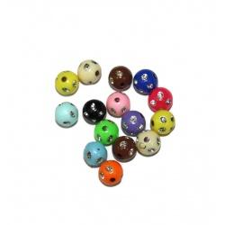15 Perles Ronde Panaché 8 mm