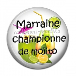 Cabochon Résine - marraine championne de mojito