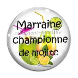 Cabochon Verre - marraine championne de mojito