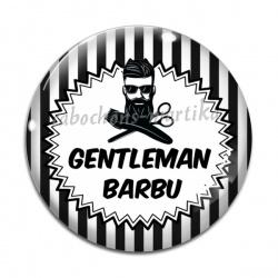 Cabochon Verre - gentleman barbu