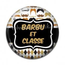 Cabochon Résine - barbu et classe