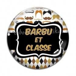 Cabochon Verre - barbu et classe