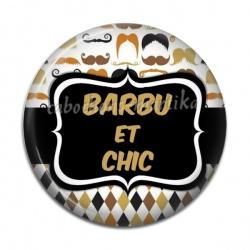 Cabochon Résine - barbu et chic